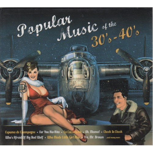 Сборник - Popular music of the 30`s-40`s (2 CD) (digipak)