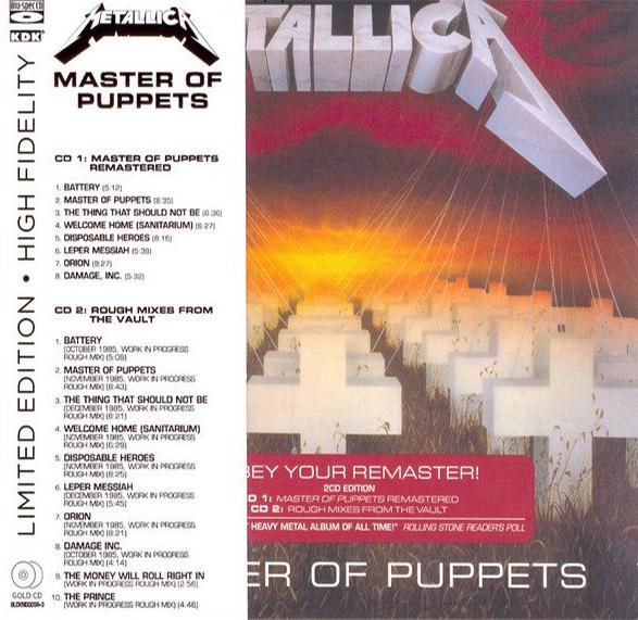 Metallica - Master Of Puppets (2CD, digipak) (Remastered, Blu-Spec CD)