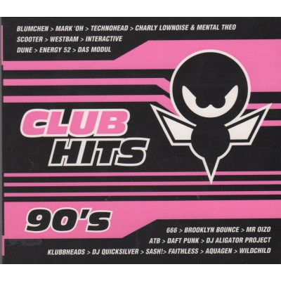 Сборник - Club Hits 90's (2cd, digipak)